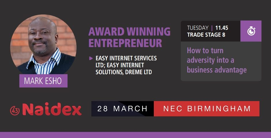 Mark Esho Speaking At 43rd Naidex on 28th March 2017