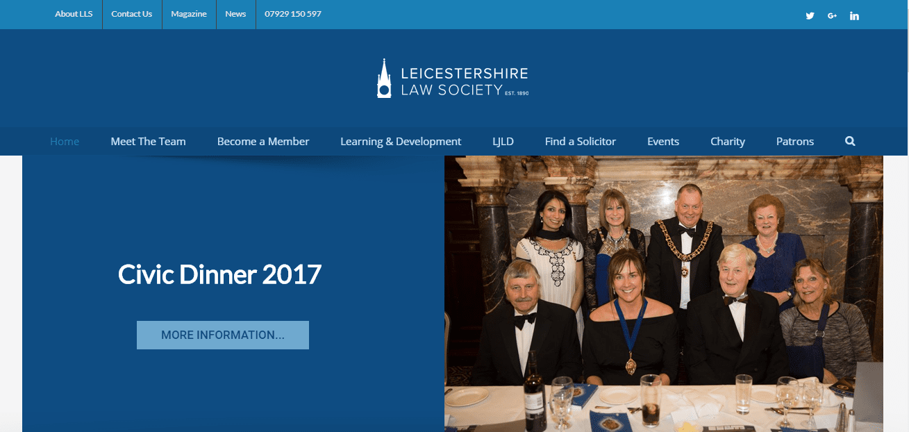 Leicestershirelawsociety.org.uk Website