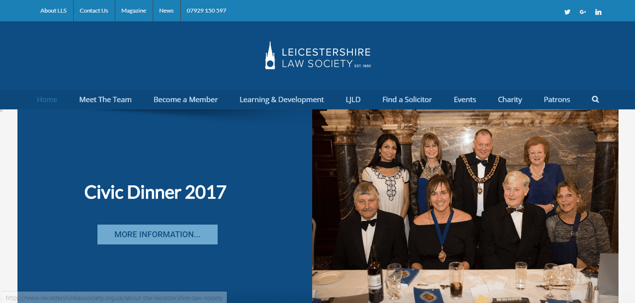 Leicestershire Law Society Web Design