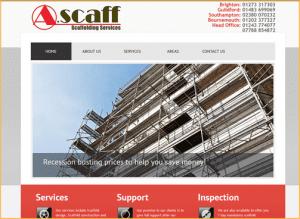 Scaffolding Services Web Design