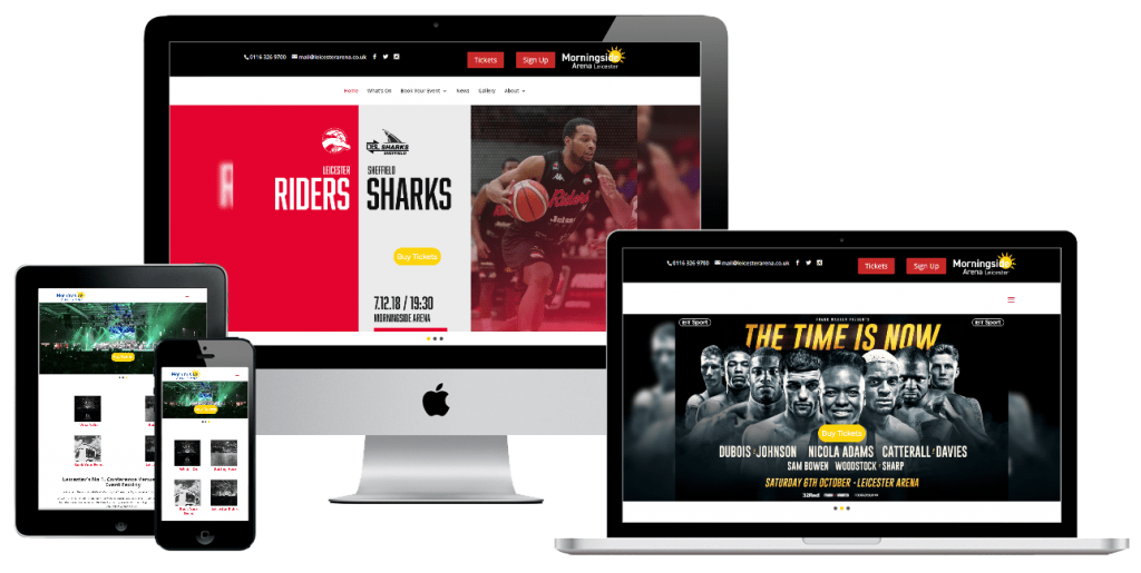 Morningside Arena - web design by Easy Internet, Leicester