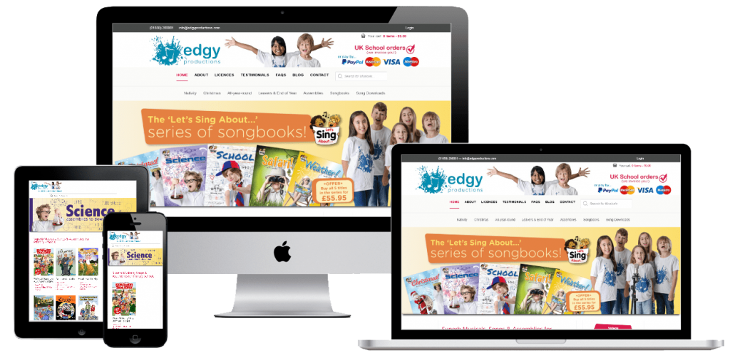 Edgy Productions - web design by Easy Internet, Leicester