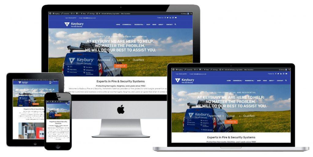 Keybury - web design by Easy Internet, Leicester