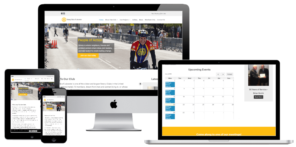 Rotary Club of Leicester - web design by Easy Internet, Leicester