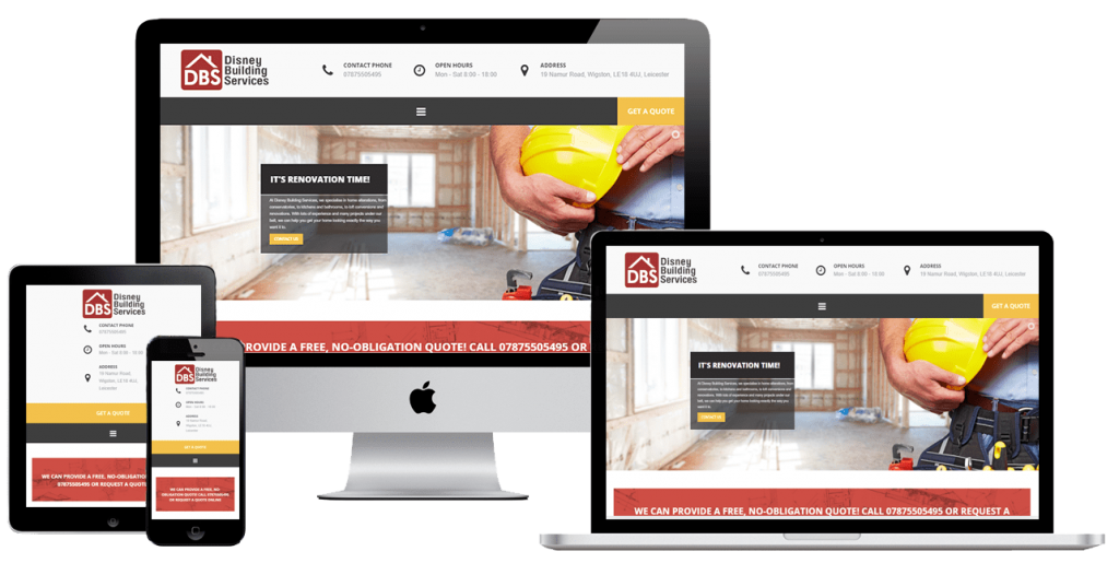 Disney Building Services - web design by Easy Internet, Leicester