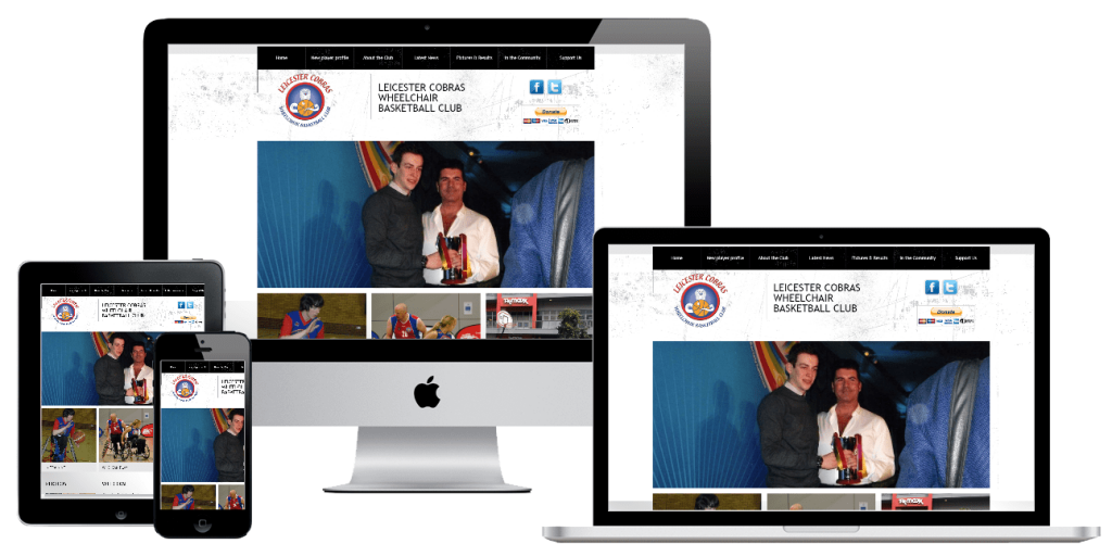 Leicester Cobras - web design by Easy Internet, Leicester