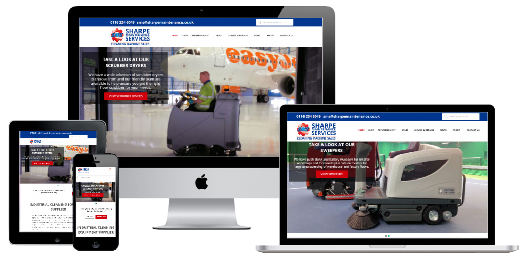 Sharpe Maintenance - web design by Easy Internet, Leicester
