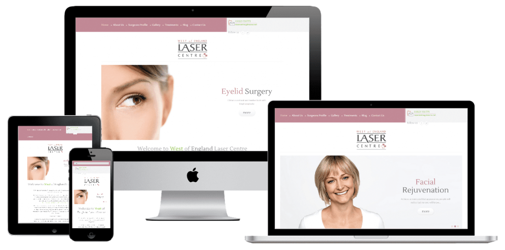 West of England Laser Centre - web design by Easy Internet, Leicester
