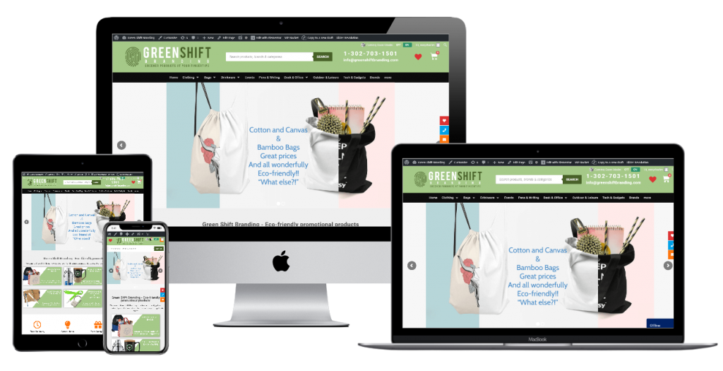 Greenshift Branding - website design by Easy Internet, Leicester