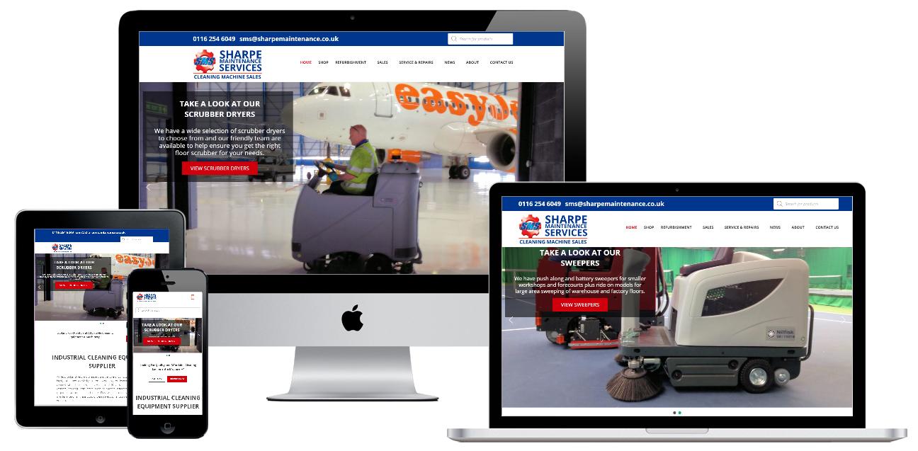 Sharpe Maintenance web design